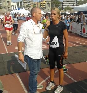 Annalisa Minetti testimonial (e partecipante) all'Innovation Running 2013